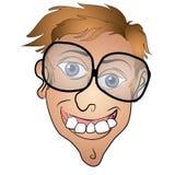 Hässliches Freddy-junger Mann-Lächeln vektor abbildung