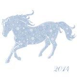 Häst av snöflingor Arkivfoton