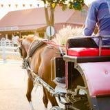 Häst dragen vagn Fotografering för Bildbyråer