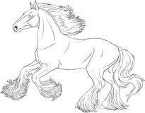 Häst för färgläggningbok stock illustrationer