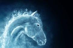 Häst från en rök royaltyfri illustrationer