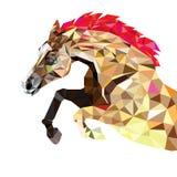 Häst i geometrisk modellstil 10 eps Royaltyfri Fotografi