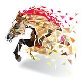 Häst i geometrisk modellstil 10 eps Royaltyfria Foton