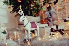 Häst i kedjan Royaltyfri Bild