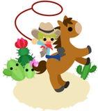 Häst- och folk~A Cowboy~ Royaltyfri Bild