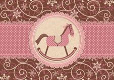 Häst och prickig bakgrund Arkivbilder