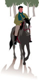 Häst och ryttare för i träna royaltyfri illustrationer