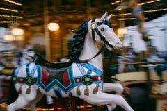 Häst på karusellen i Rome, Italien Royaltyfria Bilder