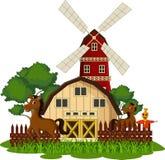 Häst på lantgården Arkivfoton