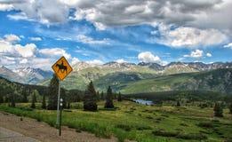 Häst Rider Sign Fotografering för Bildbyråer