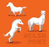 Häst walesiska Pony Cartoon Vector Illustration vektor illustrationer