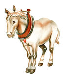 hästakvarell arkivbild