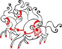 Hästar för ryss tre Stock Illustrationer