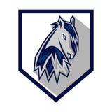 Hästar Logo Template Arkivbild