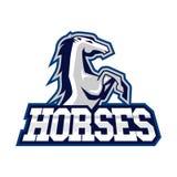 Hästar Logo Template Royaltyfri Fotografi