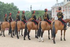 Hästar och london vakt Royaltyfri Fotografi