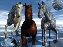 hästar som jockeying pos. Royaltyfria Foton