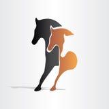 Hästar som kör abstrakt design Arkivbild