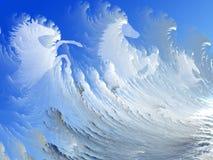 hästar surfar white Arkivbilder