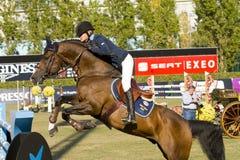 Hästbanhoppning - CSIO Barcelona Arkivfoton