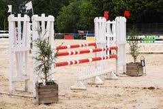 Hästbanhoppningarena i Le Pompidou Frankrike Arkivfoton
