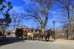 Hästbilen i det intressanta Columbia statliga historiskt parkerar royaltyfria bilder