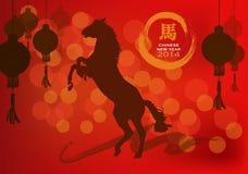 Hästdans med lyktan. Royaltyfria Foton
