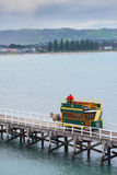 Hästdragen spårvagn på Victor Harbor, södra Australien Royaltyfri Bild
