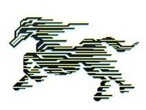 Hästen av rusar Royaltyfri Illustrationer