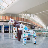 Hästen skulpterar på den Livat shoppinggallerian, Peking, Kina Royaltyfri Fotografi