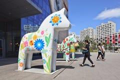 Hästen skulpterar på den Livat shoppinggallerian, Peking, Kina Royaltyfri Foto