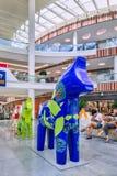 Hästen skulpterar på den Livat shoppinggallerian, Peking, Kina Fotografering för Bildbyråer