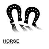 Hästen tafsar tryck Royaltyfri Foto