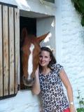 hästförälskelse Arkivfoto