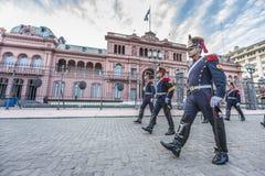 Hästgrenadjärer i Buenos Aires, Argentina. Royaltyfri Bild
