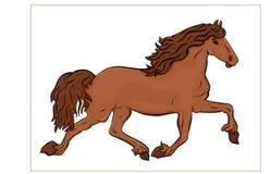 Hästkörningar royaltyfri illustrationer