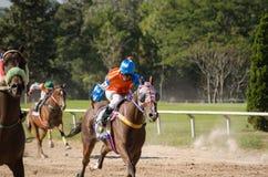Hästkapplöpning Chiang Mai, Thailand Arkivfoton