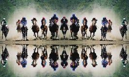 Hästkapplöpning i Pyatigorsk royaltyfri fotografi