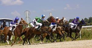 Hästkapplöpning i Pyatigorsk Fotografering för Bildbyråer
