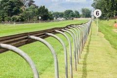 Hästkapplöpningspår Fotografering för Bildbyråer