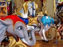 Hästkarusell royaltyfri foto
