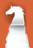 Hästkontur som river sönder papper Royaltyfri Bild