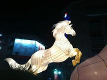 Hästlampa i det kinesiska nya året 2014 Fotografering för Bildbyråer