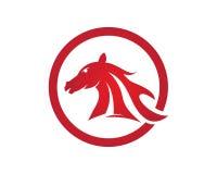 HästLogo Template Vector symbol royaltyfri illustrationer