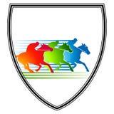 hästmöterace Royaltyfri Bild