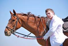 hästmanbarn Fotografering för Bildbyråer
