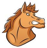 Hästmaskot vektor illustrationer