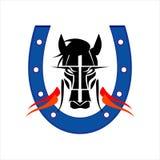 Hästmaskot royaltyfri illustrationer