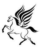 hästpegasus vingar stock illustrationer