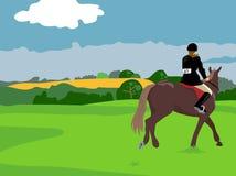 hästridning royaltyfri illustrationer